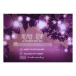 linternas púrpuras de la noche que casan las tarje comunicado personal