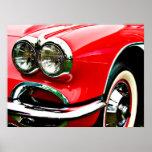 Linternas rojas del Corvette Posters
