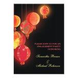 Linternas rojas: Invitaciones del compromiso Invitaciones Personalizada