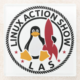 Linux Action Show gLASs Coaster