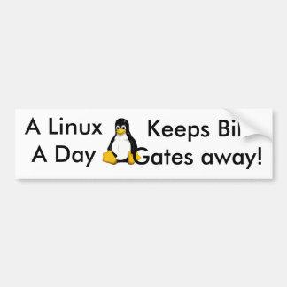 Linux al día… pegatina de parachoque