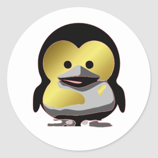 Linux Baby Tux d'Or Classic Round Sticker