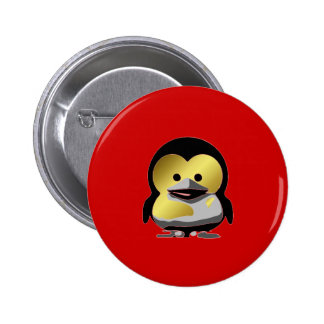 Linux Baby Tux d'Or Pinback Button