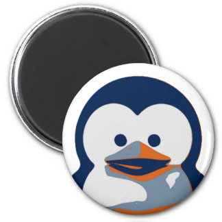 Linux Baby Tux II 2 Inch Round Magnet