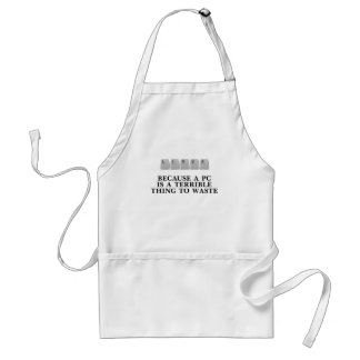 Linux, because a PC is a terrible thing to waste Adult Apron