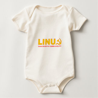 Linux because Microsoft is for capitalists Baby Bodysuit