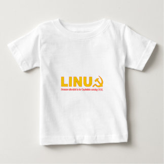Linux because Microsoft is for capitalists Baby T-Shirt