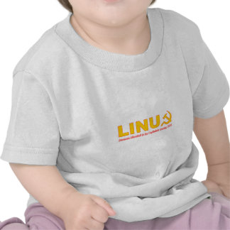 Linux because Microsoft is for capitalists T-shirts