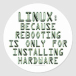 Linux: Because rebooting is only for installing... Sticker