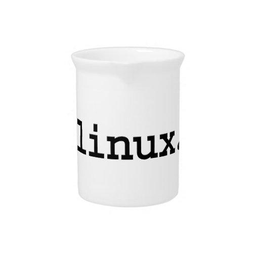 linux. beverage pitcher