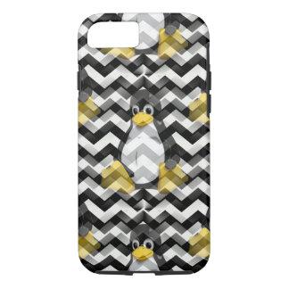 LINUX Black Chevron iPhone 8/7 Case