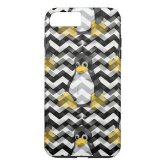 LINUX Black Chevron iPhone 8 Plus/7 Plus Case