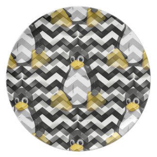 LINUX Black Chevron Plate