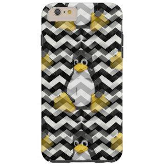 LINUX Black Chevron Tough iPhone 6 Plus Case