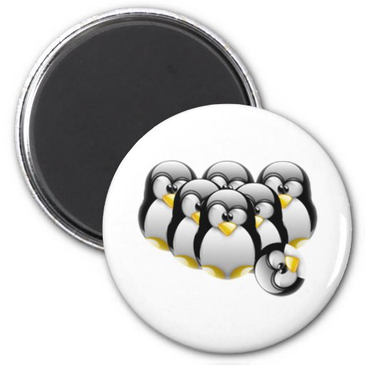 Linux Bowling 2 Inch Round Magnet