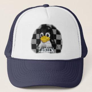 LINUX CHECKERED STONE TRUCKER HAT