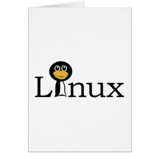 Linux con el pingüino tarjeta de felicitación