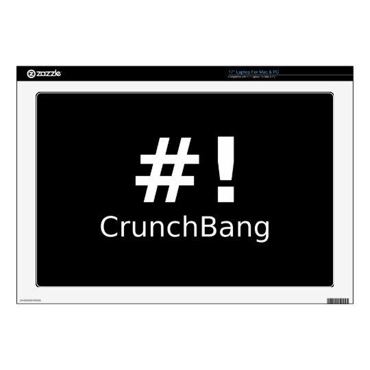 Linux CrunchBang Black & White Skins For Laptops