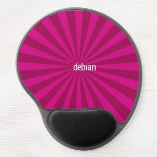 Linux Debian Purple StarBurst Gel Mouse Pad