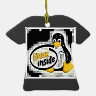 LINUX DENTRO de Tux el logotipo del pingüino de Ornaments Para Arbol De Navidad