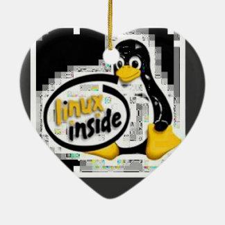 LINUX DENTRO de Tux el logotipo del pingüino de Ornamentos De Reyes