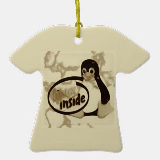 LINUX DENTRO de Tux el logotipo del pingüino de Ornamento Para Reyes Magos