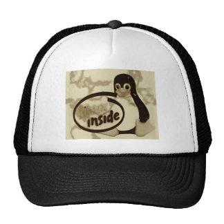 LINUX DENTRO de Tux el logotipo del pingüino de Gorras De Camionero
