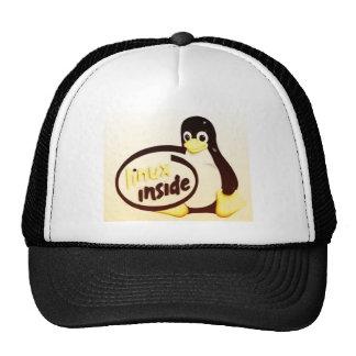 LINUX DENTRO de Tux el logotipo del pingüino de Gorro