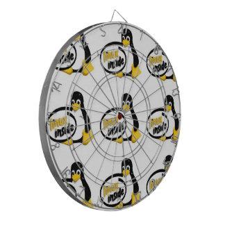 LINUX DENTRO de Tux el logotipo del pingüino de Li Tabla Dardos