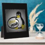 LINUX DENTRO de Tux el logotipo del pingüino de Li Placas De Plastico