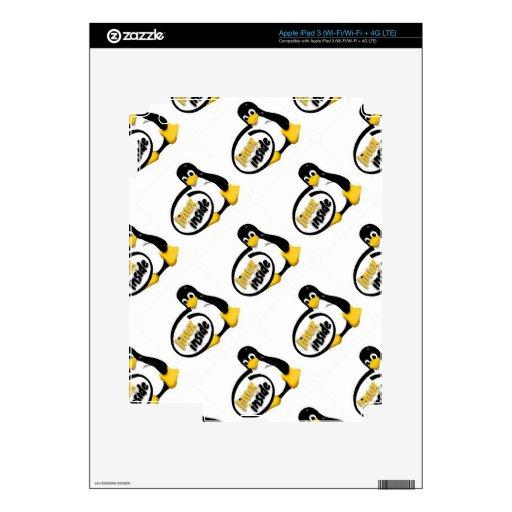 LINUX DENTRO de Tux el logotipo del pingüino de Li Pegatinas Skins Para iPad 3