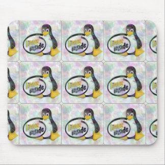 LINUX DENTRO de Tux el logotipo del pingüino de Mouse Pads