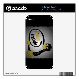LINUX DENTRO de Tux el logotipo del pingüino de Skin Para El iPhone 4S