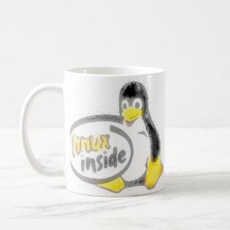 LINUX DENTRO de Tux el logotipo del pingüino de Taza De Café