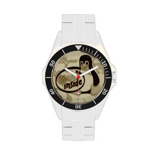 LINUX DENTRO de Tux el reloj del pingüino de Linux