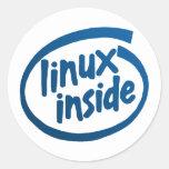 Linux dentro pegatinas