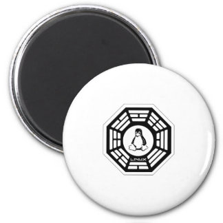 Linux Dharma 2 Inch Round Magnet