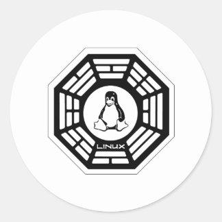 Linux Dharma Pegatinas Redondas