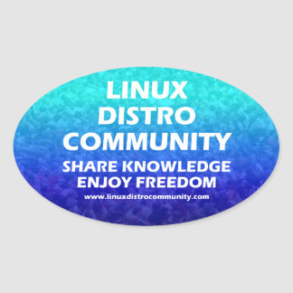 Linux Distro Community Oval Stickers