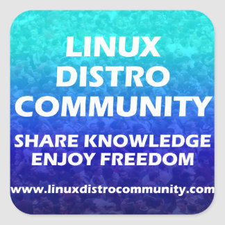 Linux Distro Community Square Sticker 2 Sizes