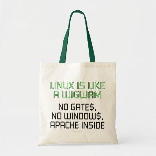 Linux es como una tienda india. Ningunas puertas,  Bolsa De Mano