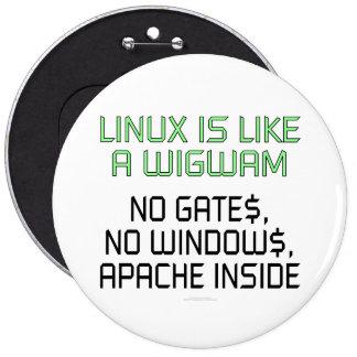 Linux es como una tienda india. Ningunas puertas,  Pins