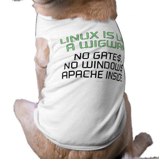Linux es como una tienda india. Ningunas puertas,  Ropa Macota