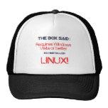 Linux es mejor gorras