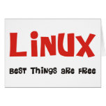 Linux Geek and more Products & Designs! Greeting Card