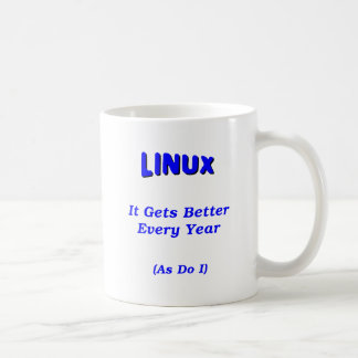 Linux Getting Better Classic White Coffee Mug