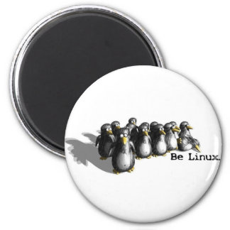 Linux Group 2 Inch Round Magnet