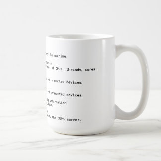 Linux Hardware Detection Commands Coffee Mug