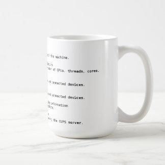 Linux Hardware Detection Commands Mug