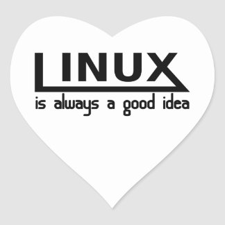 Linux Heart Sticker